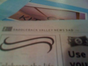 Poor old SADdleback Valley News